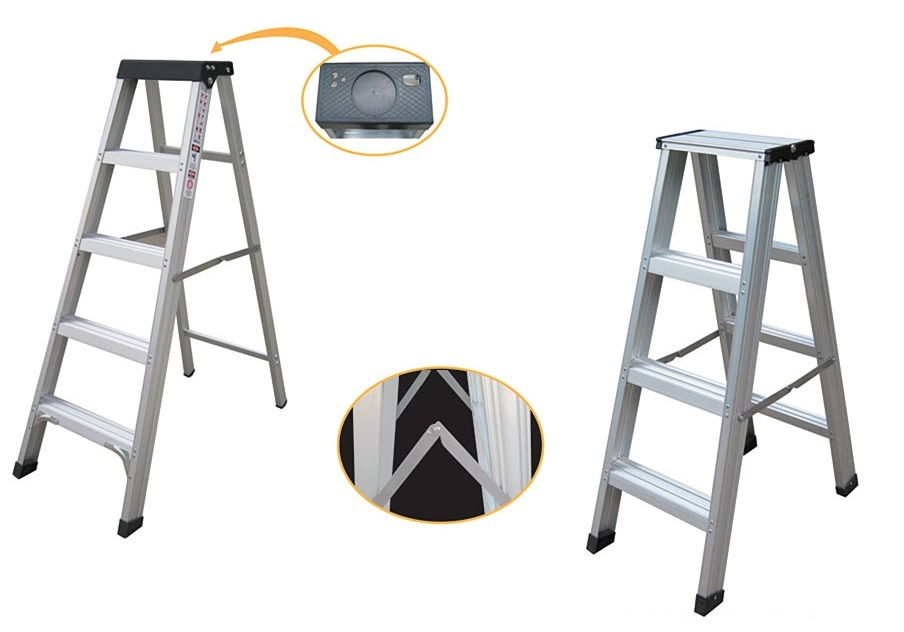 Aluminium Double Side Step Ladder